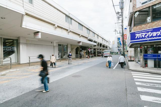 綱島駅の東口バスターミナルなどの写真