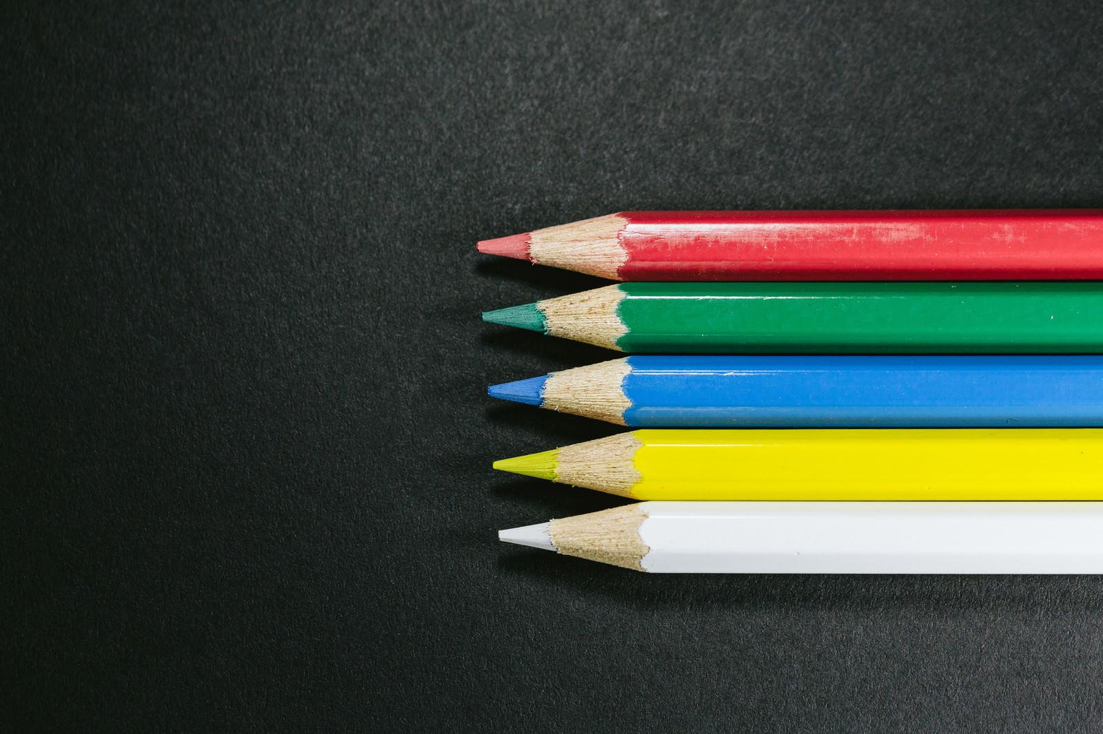 「世界に5つだけの色鉛筆」の写真