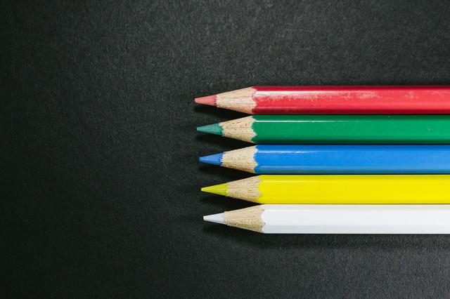 世界に5つだけの色鉛筆の写真