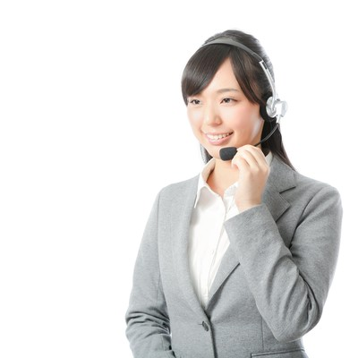 「やり手の女性コールセンターリーダー」の写真素材