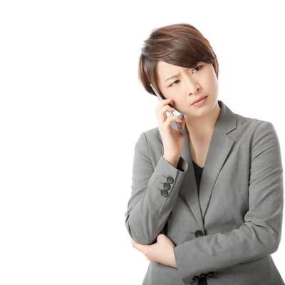 「「もしもし?聞こえてますか?もしもーし?」」の写真素材