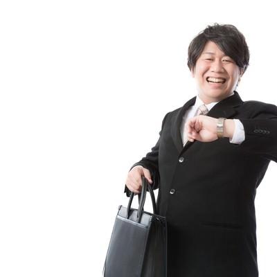 「「タイム・イズ・マネー!」と豪語する投資顧問」の写真素材