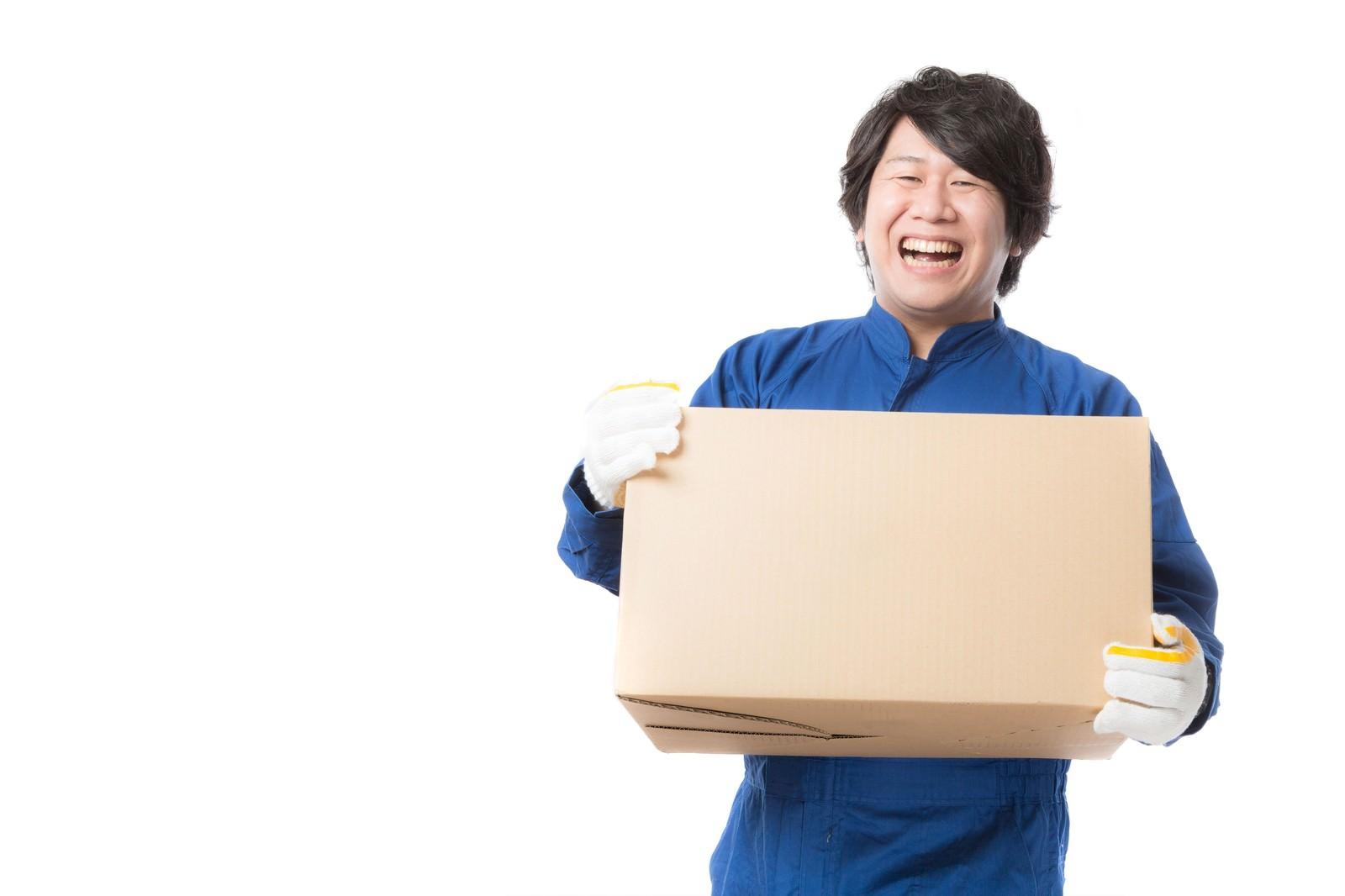 「物流の維持・管理を行う配送物量業務」の写真[モデル:あまのじゃく]