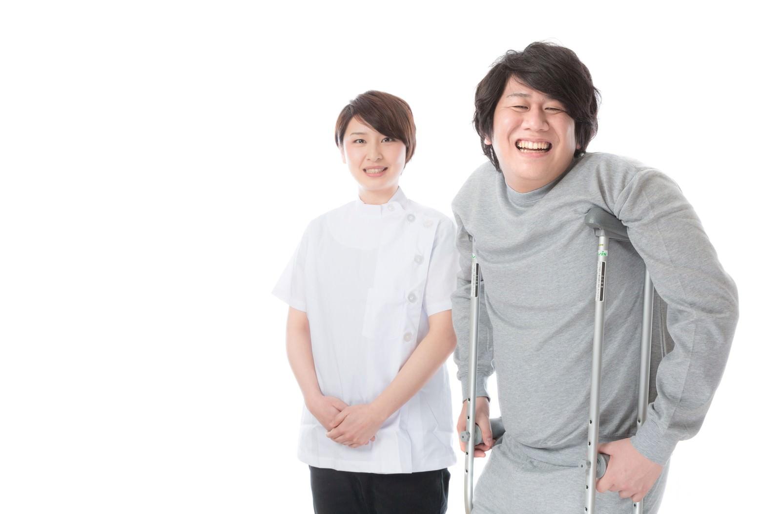 「介護・リハビリテーションの現場で活躍する理学療法士」の写真[モデル:八木彩香 あまのじゃく]