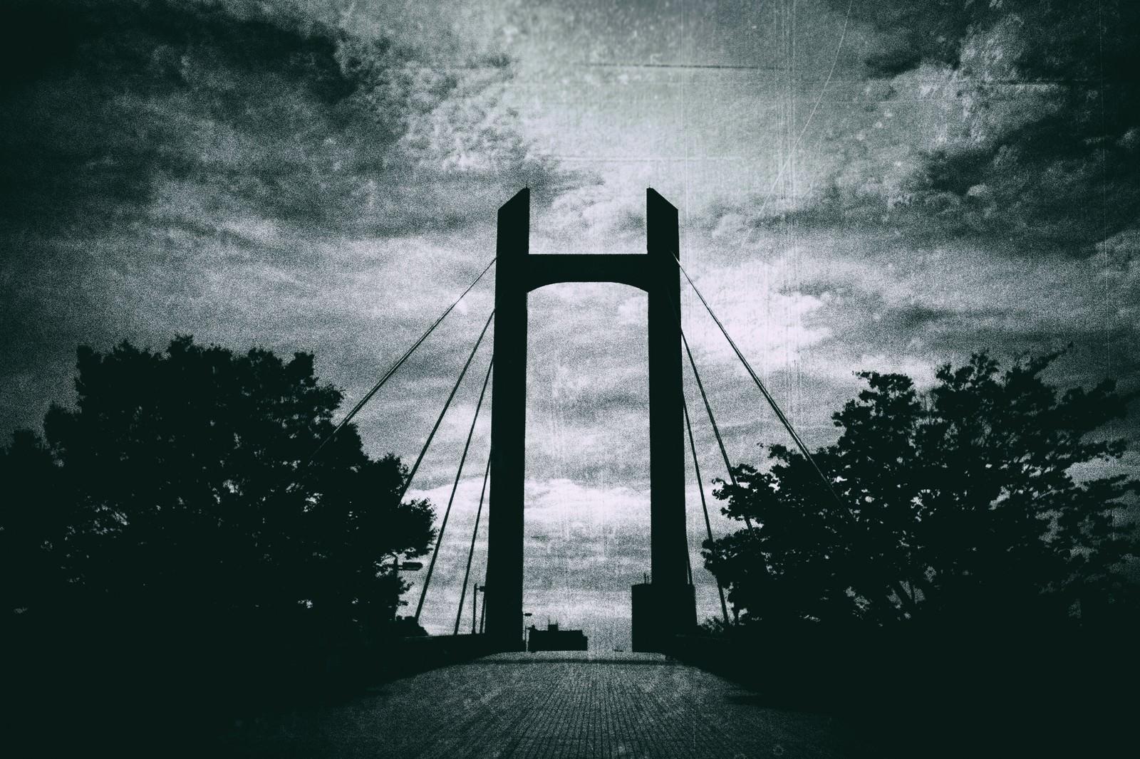 「陸橋(モノクロ)陸橋(モノクロ)」のフリー写真素材を拡大