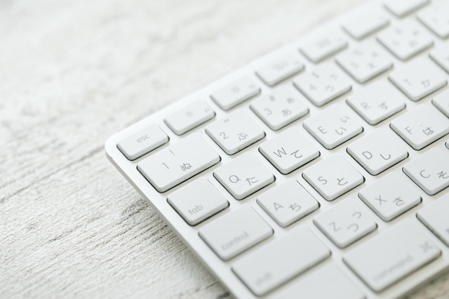 Macのキーボードの写真