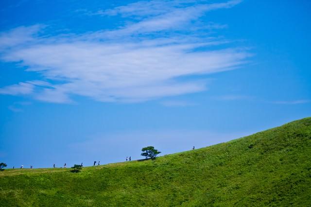 大室山の頂上の写真