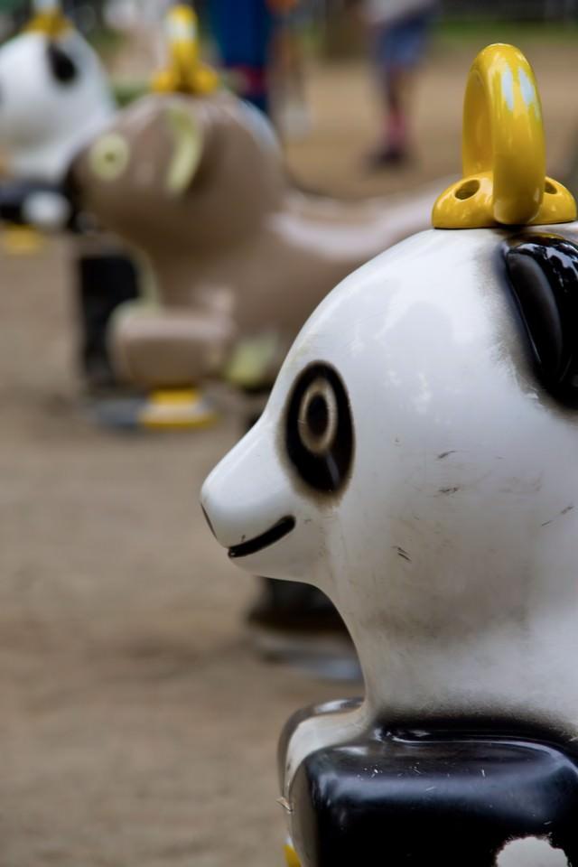 パンダの遊具の写真