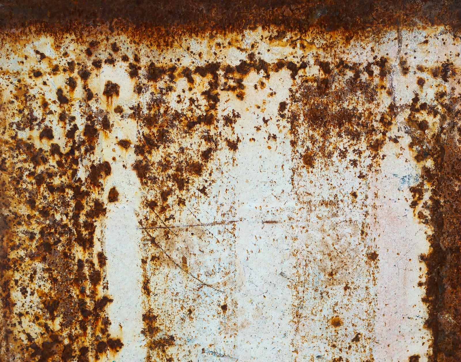 「錆びた壁のテクスチャー」の写真
