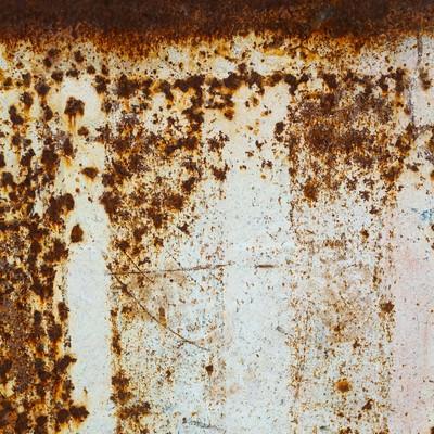 「錆びた壁のテクスチャー」の写真素材