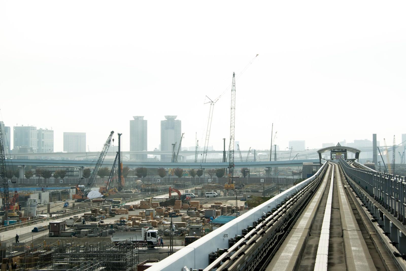 「ゆりかもめから見える建設現場ゆりかもめから見える建設現場」のフリー写真素材を拡大