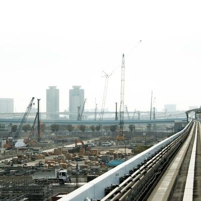 「ゆりかもめから見える建設現場」の写真素材