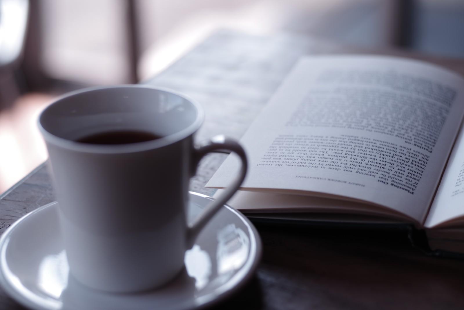 「読書コーヒータイム」の写真