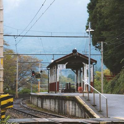「田舎の無人駅」の写真素材