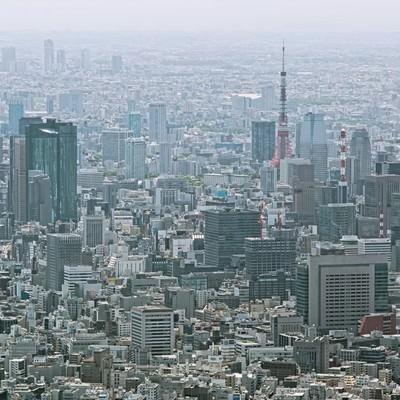 「東京タワーとビル群」の写真素材