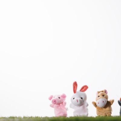 「おいでよブタさんウサギさんウマさんネズミさん」の写真素材