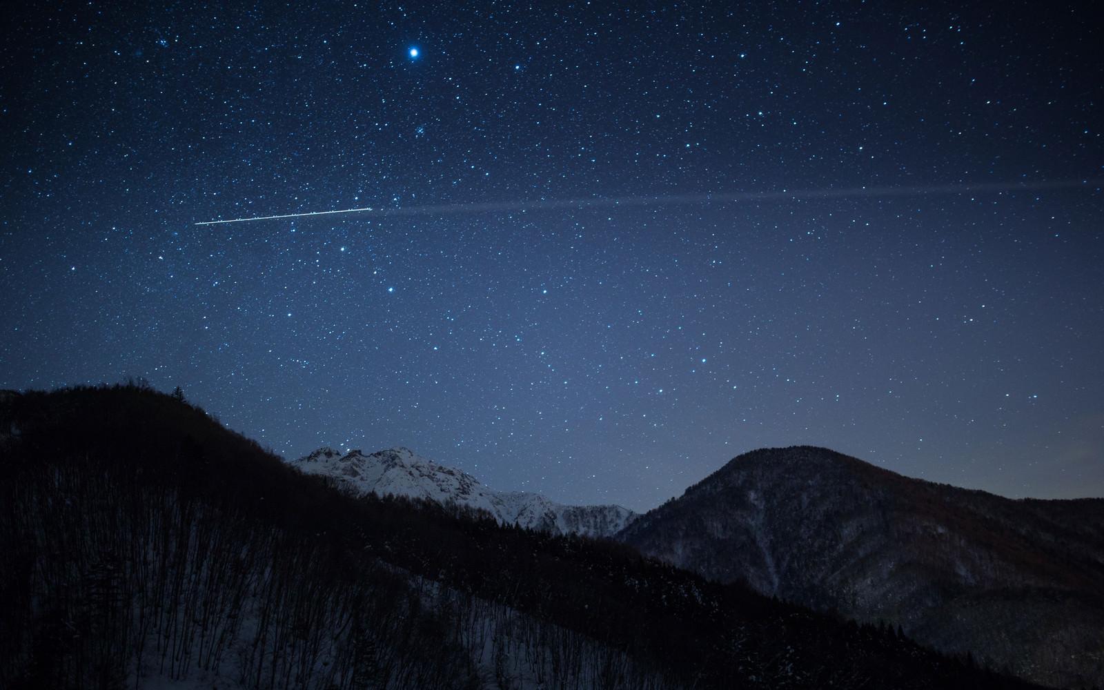 「北アルプス大橋からの夜景」の写真