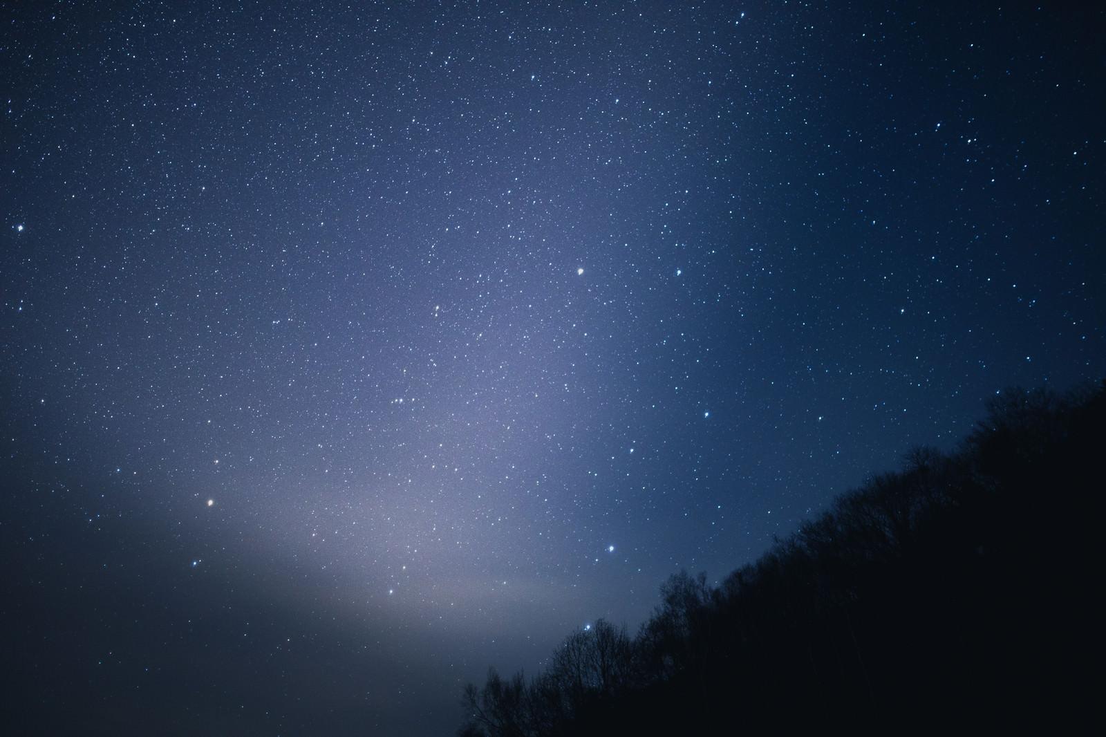 「星がキレイな北アルプスの夜空星がキレイな北アルプスの夜空」のフリー写真素材を拡大