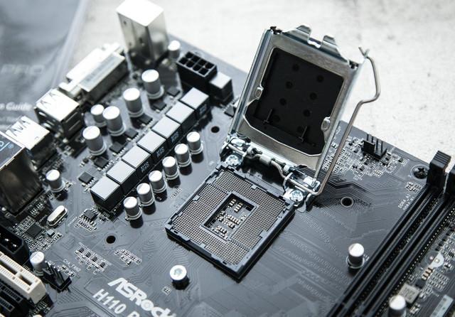 CPUソケット(LGA1151)の写真