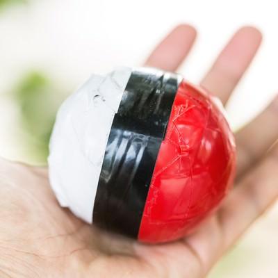 延期の末、やっと手に入れた紅白ボールの写真