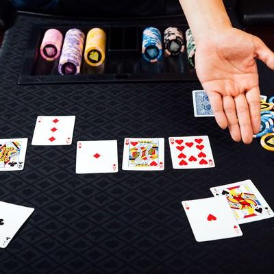 「ポーカー(ストレート)」の写真素材