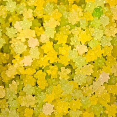 黄色いコンペイトウの写真