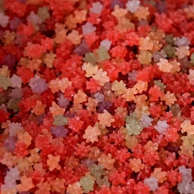 「赤い金平糖(コンペイトウ)」の写真素材