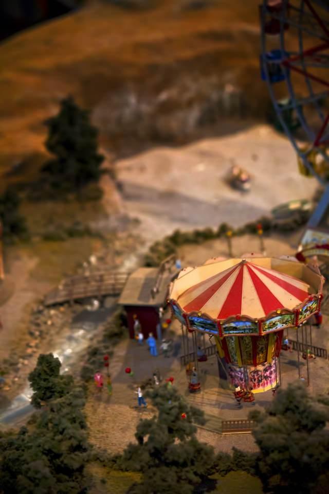 遊園地のミニチュアの写真