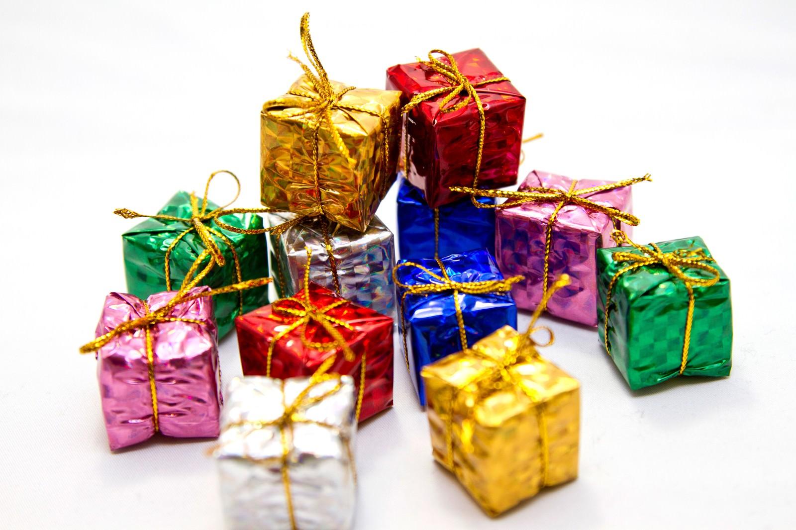 「積み重ねたプレゼントボックス」の写真