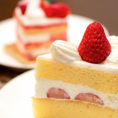 「いちごのショートケーキ」の写真素材