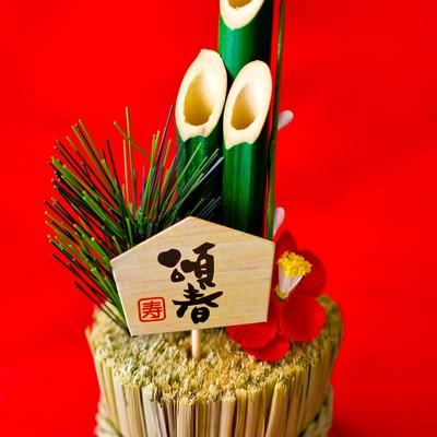 「小さい門松の飾り」の写真素材