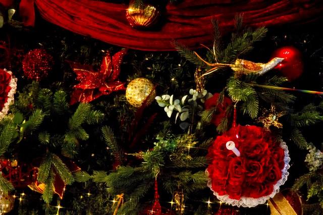 クリスマスツリーの飾りの写真