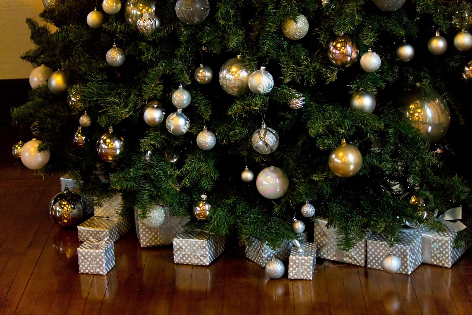 「クリスマスツリーとプレゼント」の写真