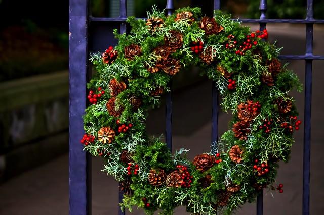 クリスマスの輪の写真