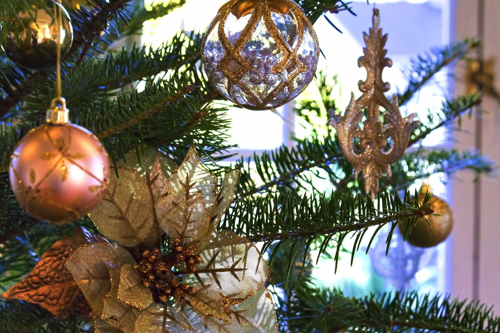「綺麗なクリスマスツリーの飾り」の写真