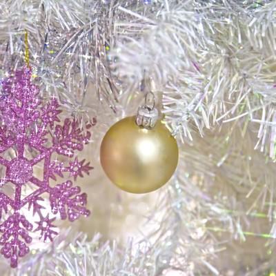 白いクリスマス飾りの写真