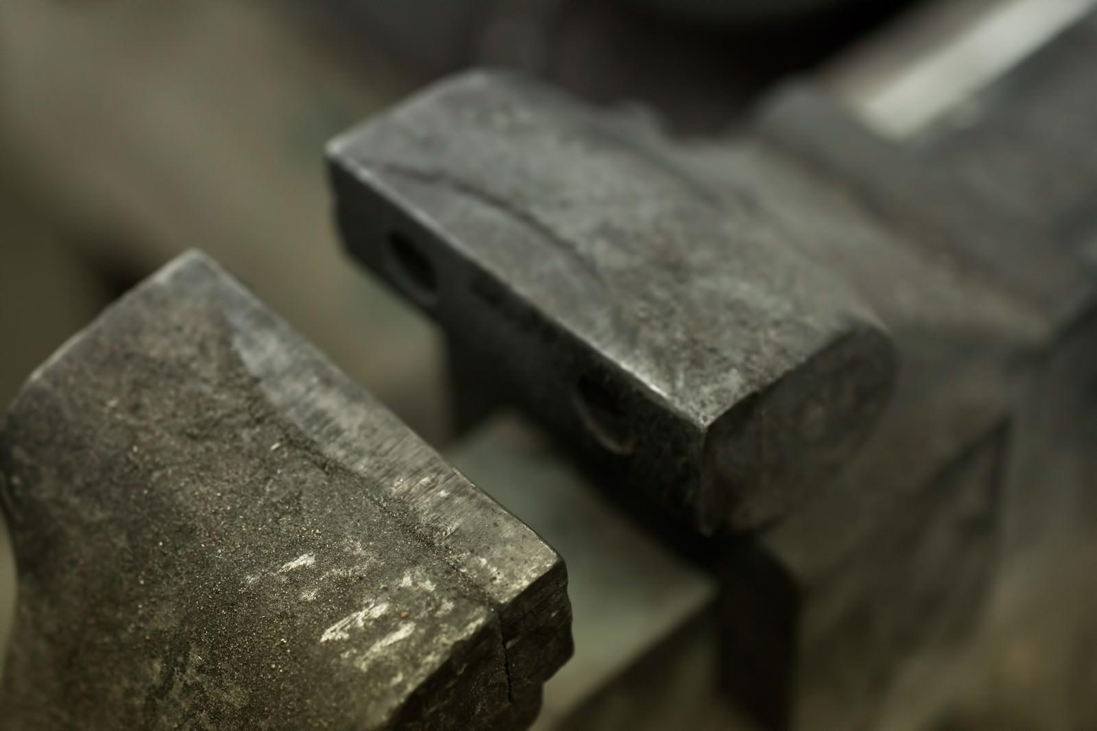 「工具台の万力」の写真