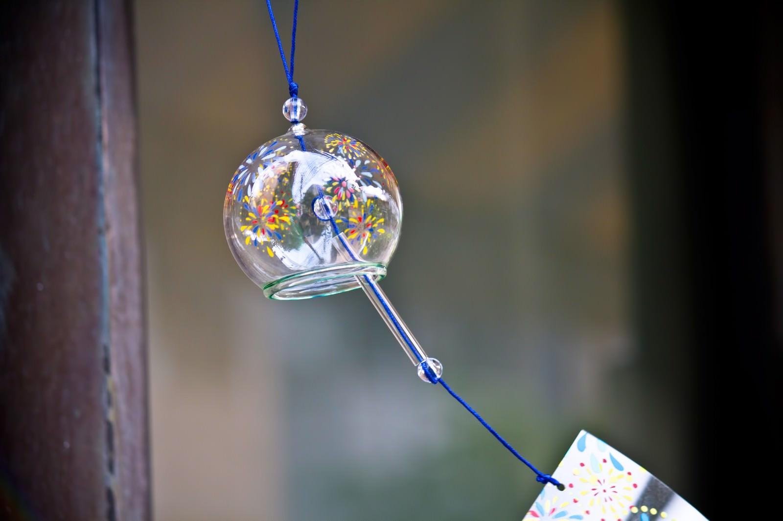 「ガラスの丸い風鈴」の写真