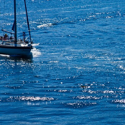 「海の上のヨット」の写真素材