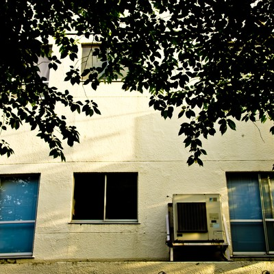 「夕暮れの校舎裏」の写真素材