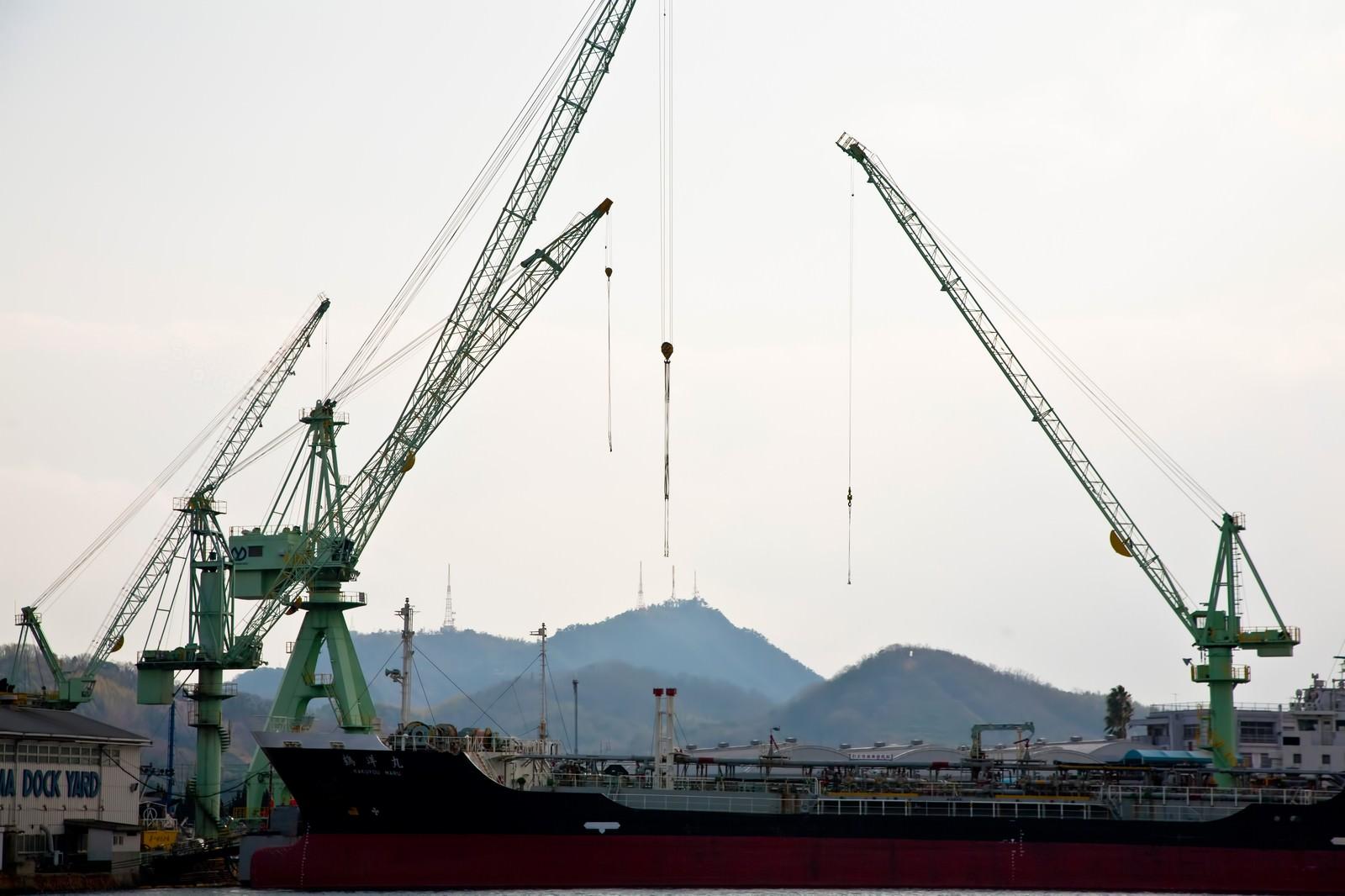 「尾道の造船所」の写真