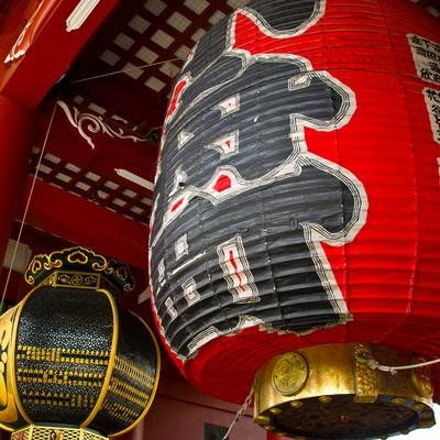 「浅草小舟町の提灯」の写真素材