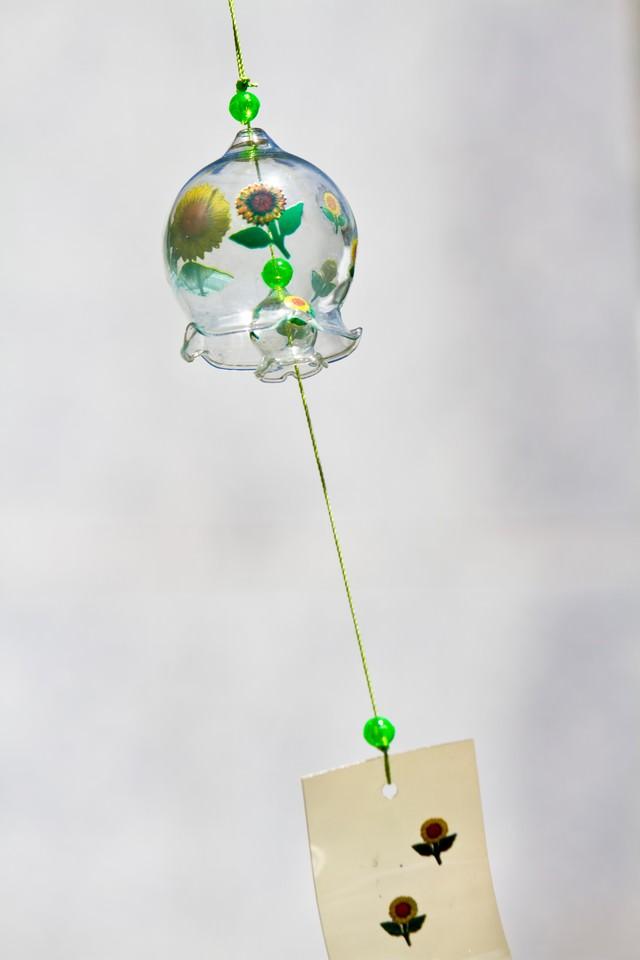 ひまわり模様の風鈴の写真
