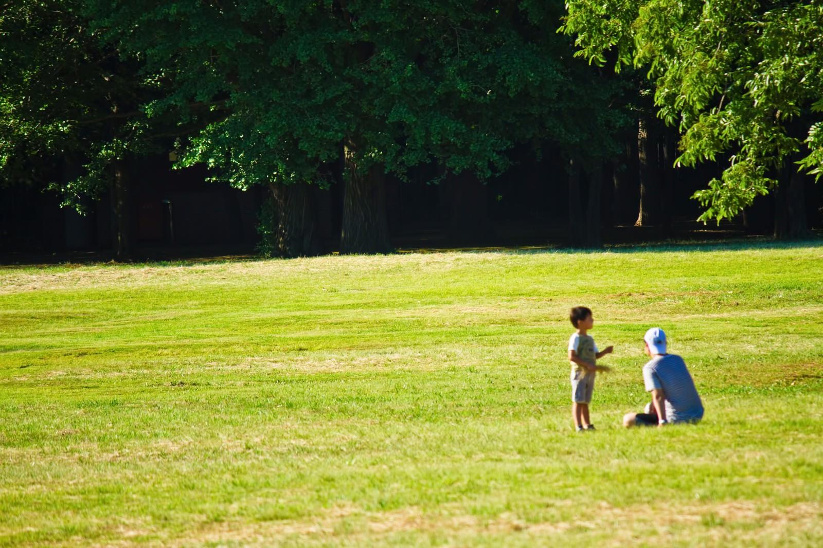 「広場での親子広場での親子」のフリー写真素材を拡大