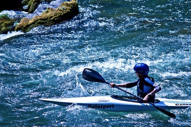 カヌーと渓流下りの写真