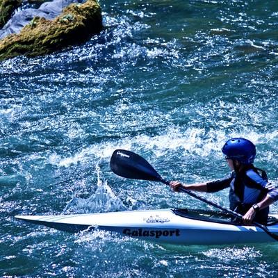 「カヌーと渓流下り」の写真素材
