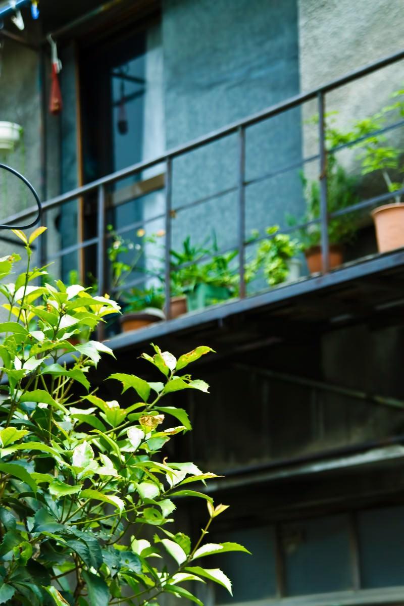 「古いアパートのベランダ古いアパートのベランダ」のフリー写真素材を拡大
