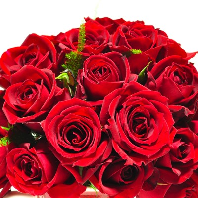 「赤いバラのブーケ」の写真素材
