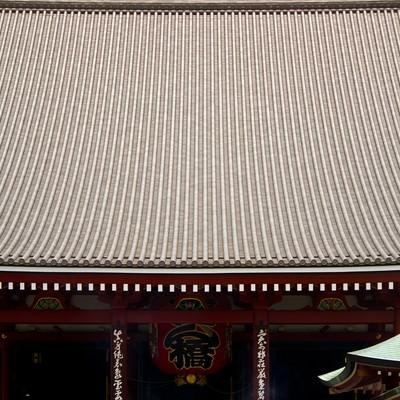 「浅草寺正面」の写真素材