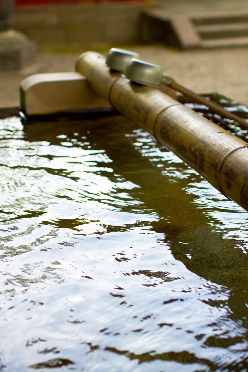 「境内の手水場」の写真
